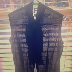 Just Cavalli sheer viscose blouse with bow